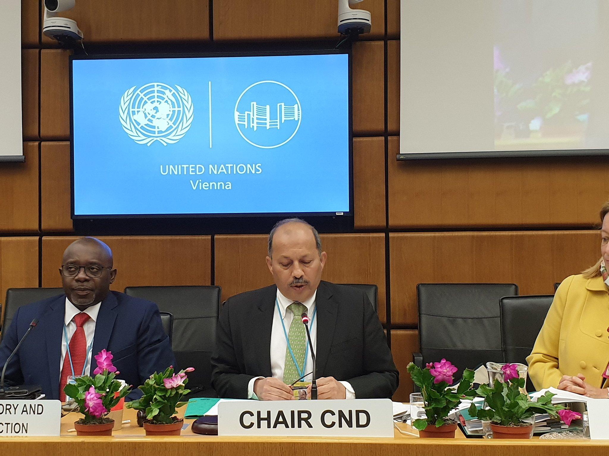 CND Chair Mansoor Ahmad Khan