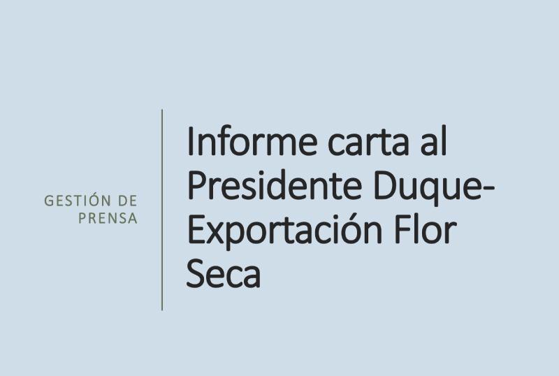 Informe presidente Duque